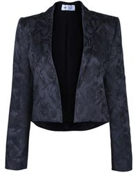 The Bee's Sneeze - Black Flower Brocade Tuxedo Blazer - Lyst