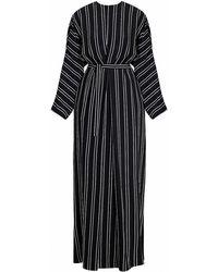 UNDRESS - Tulua Black & White Striped Maxi Occasion Wedding Guest Dress - Lyst