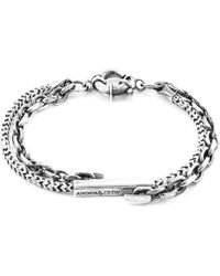 Anchor & Crew - White Noir Belfast Rope Bracelet - Lyst