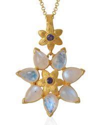 Emma Chapman Jewels - Bellatrix Moonstone Iolite Pendant - Lyst
