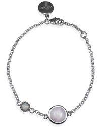 Vintouch Italy - Satellite Sterling Silver Kunzite & Opal Bracelet - Lyst