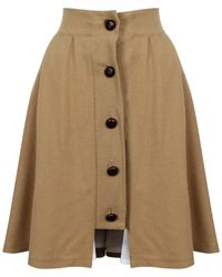A - M M - E - Riding Skirt Camel Wool - Lyst