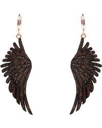 LÁTELITA London - Angel Wing Drop Earring Rosegold Chocolate - Lyst