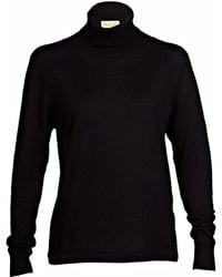 Asneh - Mathilda Fine Knit Cashmere Roll Neck Sweater Black - Lyst
