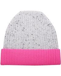Orwell + Austen Cashmere - Speckled Grey & Pink Cashmere Beanie - Lyst