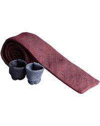 Rosemary Goodenough - Denim Claret Cotton Tie - Lyst