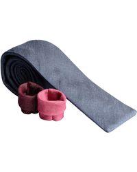 Rosemary Goodenough - Denim Light Blue Cotton Tie - Lyst
