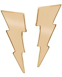 Edge Only - Triple Bolt Earrings Gold - Lyst