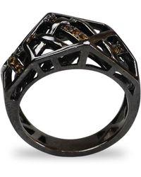 Bellus Domina - Citrine Hexa Ring Sterling Silver - Lyst