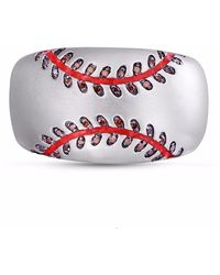 LMJ - Home Run Baseball Band Ring - Lyst