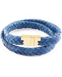 Tissuville - Stark Bracelet Royal Blue Gold - Lyst
