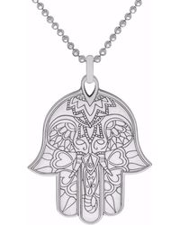 CarterGore - Silver Hamsa Hand Pendant Necklace - Lyst
