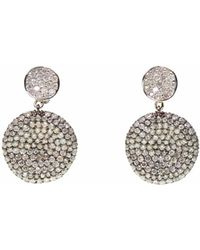 Ri Noor | Two Tone Diamond Earrings | Lyst