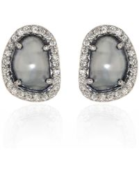 Ri Noor - Tahitian Pearl & Diamond Earrings - Lyst