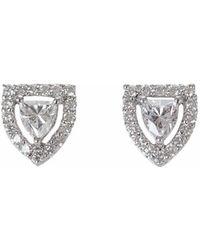 Ri Noor - Fancy Shield Shape Diamond Stud Earrings - Lyst