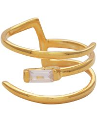 Carousel Jewels - Crystal And Gold Wrap Ring - Lyst