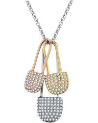 Opes Robur - Triple Padlock Necklace - Lyst