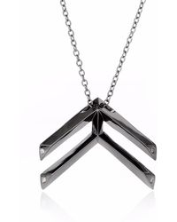Sonal Bhaskaran - Pala Chevron Necklace Black Ruthenium - Lyst