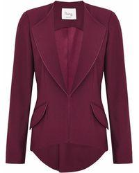 Hebe Studio - The Hebe Suit Burgundy Girlfriend Blazer - Lyst