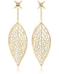 Vitae Ascendere - Forsythia Leaf Earrings - Lyst