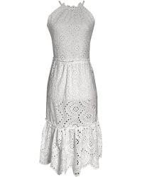 LEFON New York - Guipure Lace Dress - Lyst