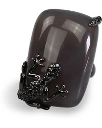 Bellus Domina - Agate Lizard Cocktail Ring - Lyst
