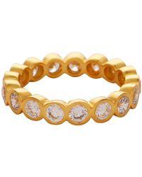 Carousel Jewels - Crystal Quartz Gold Gemstone Band - Lyst