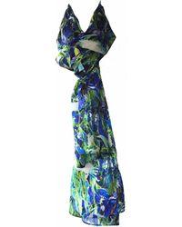 Jennifer Rothwell - Green Crane Print Silk Scarf - Lyst