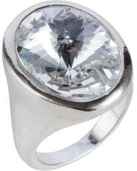 Nadia Minkoff - Oval Ring Silver Crystal - Lyst