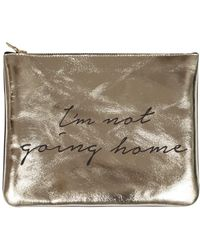 Sarah Baily - I'm Not Going Home Leopard Print & Gold Mini Clutch - Lyst