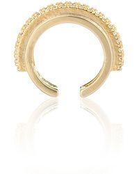 Astrid & Miyu - Fitzgerald Circle Ear Cuff In Gold - Lyst