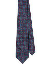 EZRA AMARFIO - Burgundy Medallion 36oz Madder Silk Tie - Lyst