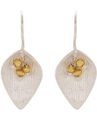 Carousel Jewels - Silver & Gold Petal Earrings - Lyst