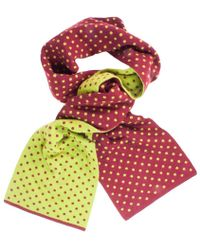 40 Colori - Wine Green Dotted Wool & Cashmere Scarf - Lyst
