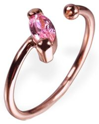 Ona Chan Jewelry - Little Jewels Open Ring Marquis Pink & Rose Gold - Lyst