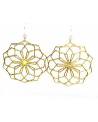 Dream of Songs - Floral Essence Earrings Brass - Lyst