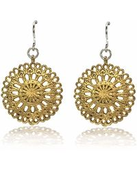 Dream of Songs - Lace Earrings Brass - Lyst