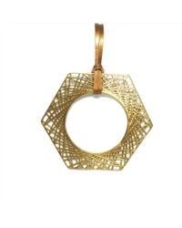 Dream of Songs - Hexagon Statement Necklace Brass - Lyst