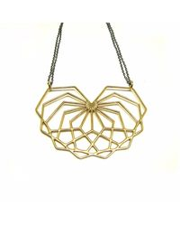Dream of Songs - Abstract Heart Necklace Brass - Lyst