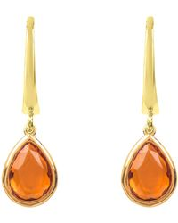 LÁTELITA London - Pisa Mini Teardrop Earring Gold Citrine - Lyst