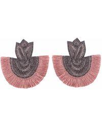 Wafa By Wafa - Pink Carissa Earrings - Lyst
