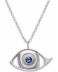 Kozminka - Sapphire Eye Necklace - Lyst