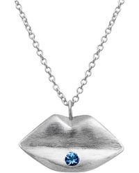 Kozminka - Sweet Kiss Sapphire Piercing Necklace - Lyst