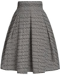 Rumour London - Ravello Chevron Midi Skirt - Lyst