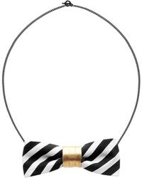 Scenery Label - Stripes Bow Chain - Lyst