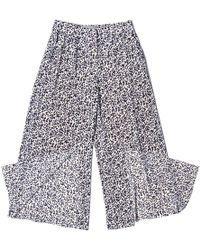 SAKU New York - Flowy Slit Pants White - Lyst