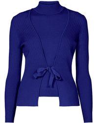 Rumour London - Erika & Erin Indigo Two-piece Merino Wool Set - Lyst