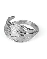 Chupi - I Can Fly Tiny Swan Feather Ring In Silver - Lyst