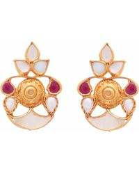 Carousel Jewels - Mother Of Pearl & Crystal Earrings - Lyst