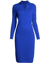 Rumour London - Olivia Azure Blue Soft Merino Wool Blend Dress - Lyst